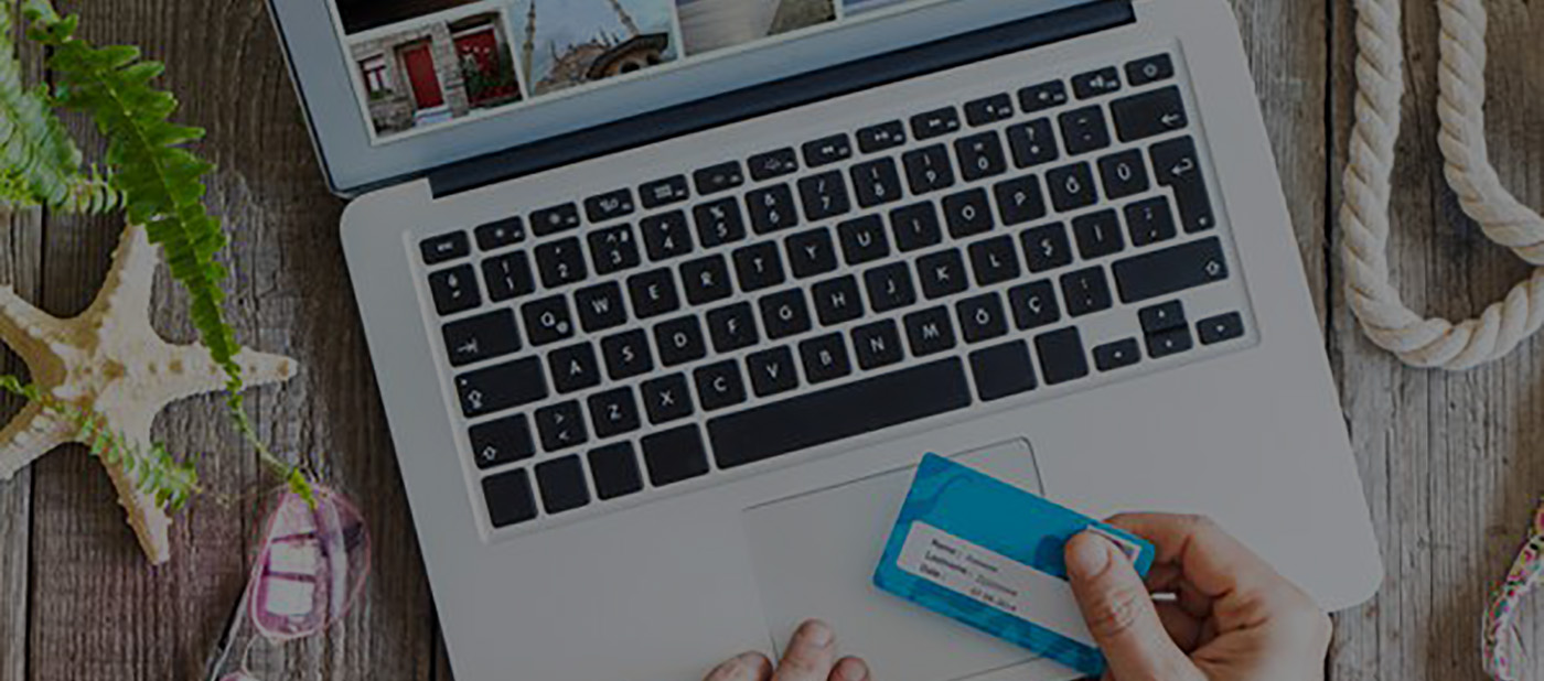 laptop keyboard and credit card