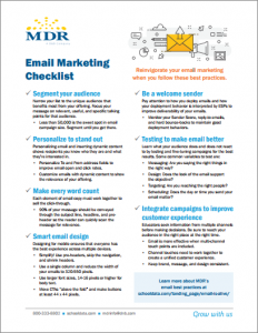 Email Marketing Best Practices Checklist