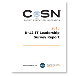 CoSN IT Leadership 2018 report cover thumbnail