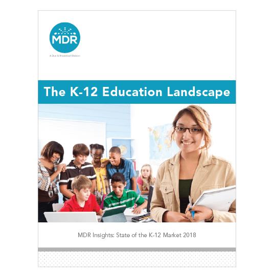The K-12 Education Landscape report cover thumbnail