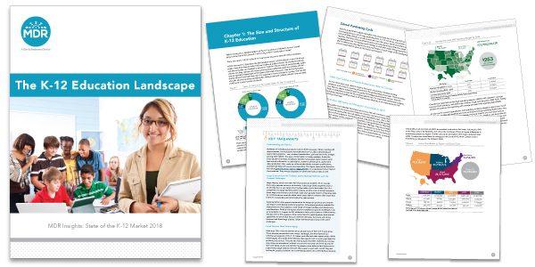 The K-12 Education Landscape report sample pages