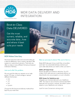 MDR Data Delivery and Integration sell sheet thumbnail