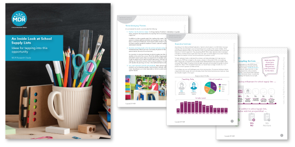 School Supply Lists a Marketers Guide