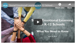 Social Emotional Learning in K-12 Schools Webinar title slide