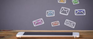Mobile email illustration