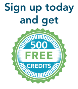 Sign up today and get 500 free credits