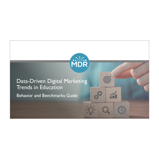 Data-Driven Digital Marketing Trends in Education report cover