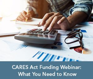 CARES Act funding webinar thumbnail
