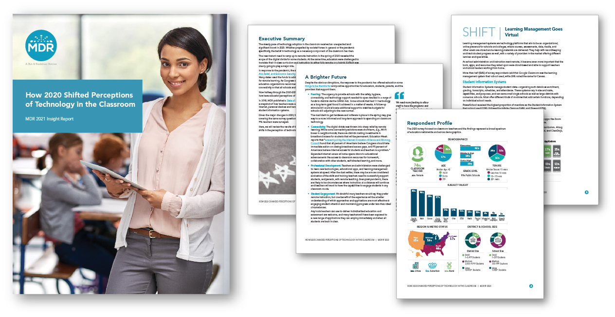 MDRs Technology In the Classroom 2020 report and sample pages