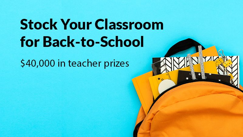 Stock your classroom for back to school