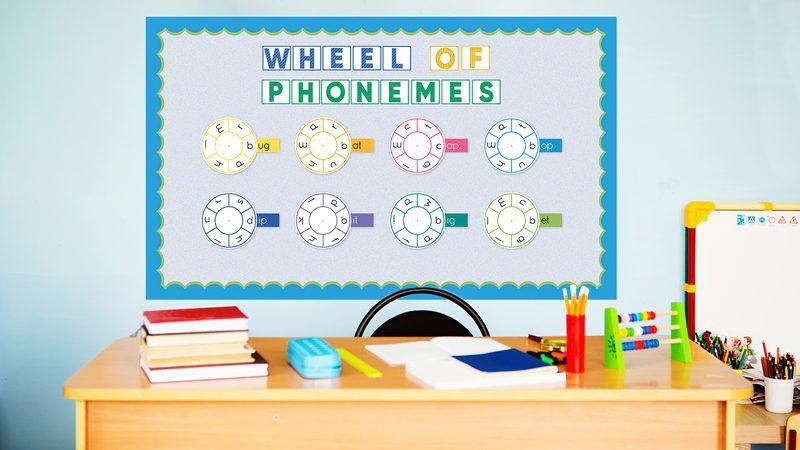 wheel of phonemes bulletin board kit